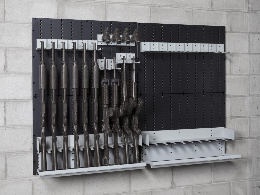 Complete Wall Rack kit and Add-on for 20 long guns
